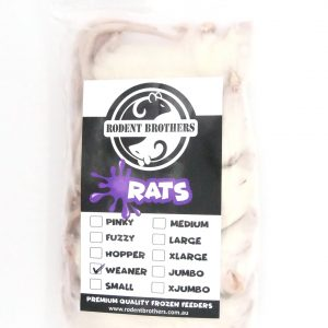 Weaner Rats 5 Pack (50-69 grams)