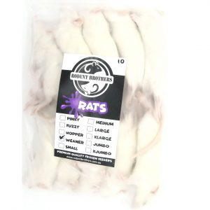 Weaner Rats 50 Pack (50-69 grams)